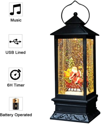 Eldnacele-Singing-Battery-Operated-Plug-in-Musical-Lighted-Christmas-Snow-Spinning-Water-Glittering-Snow-Globe-Lantern-Home-Decoration-and-Gift-Santa-Claus