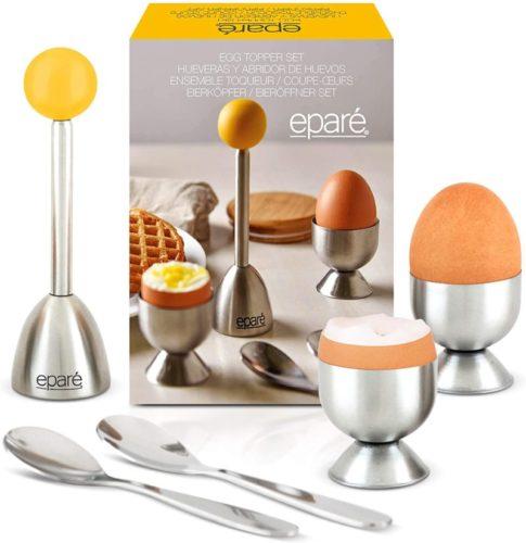 Eparé-Egg-Cracker-Topper-Set-Complete-Soft-Boiled-Egg-Tool-Set-Includes-Egg-Cups-Cutter-Spoons-Easy-Eggs-Opener