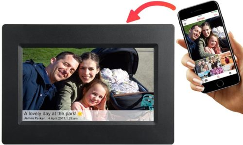 Feelcare 7 Inch Smart WiFi Digital Picture Frame with Touch Screen, Send Photos or Small Videos from Anywhere, IPS LCD Panel, Built in 8GB Memory, Wall-Mountable, Portrait&Landscape(Black) .jpg