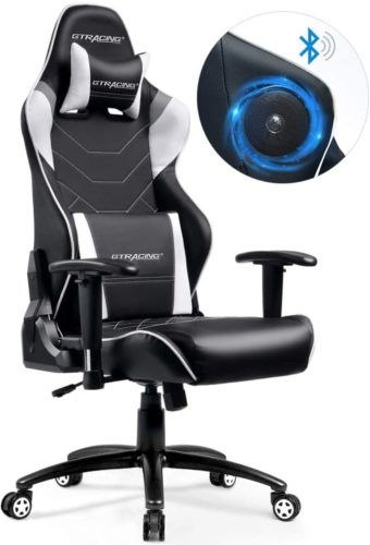 GTRACING Audio Gaming Chair with Bluetooth Speakers