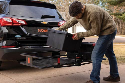 CURT 18153 500 lbs. Basket Trailer Hitch Cargo Carriers