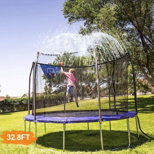 INMUA-Trampoline-Sprinkler-Outdoor-Water-Play-Sprinklers-for-Kids-Fun-Water-Park-Summer-Games-Yard-Toys-Sprinkler-32.8ft-10M