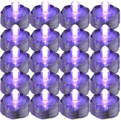 JYtrend-SUPER-Bright-LED-Floral-Tea-Light-Submersible-Lights-For-Party-Wedding-Purple-20-Pack