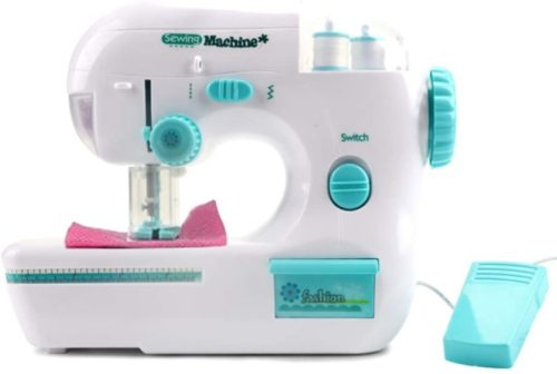 Free Arm Best Sewing Machine for Beginners, Portable Desktop Electric Sewing Machine for DIY Cloth