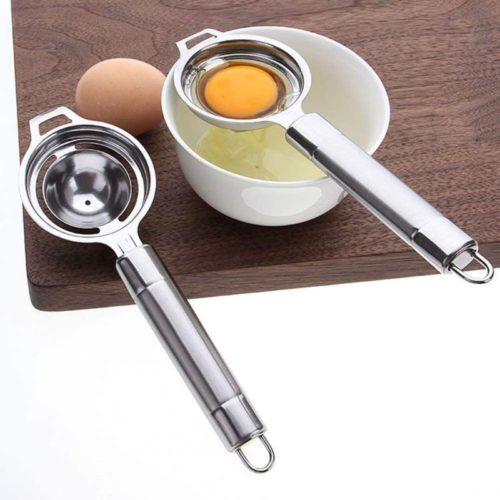 Konren-Stainless-Steel-Egg-Separator2pcs-Egg-Yolk-Separator-Egg-Whites-and-Yolks-Strainer-Divider-Professional-Egg-Separator-Tool-for-Baking-CakeEgg-CustardsMayonnaise