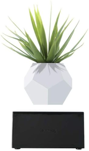 Levitating Plant Vase Pot for Home Office Decor, Wireless Rechargeable, Magnetic Levitation, Floating Air Bonsai Plant