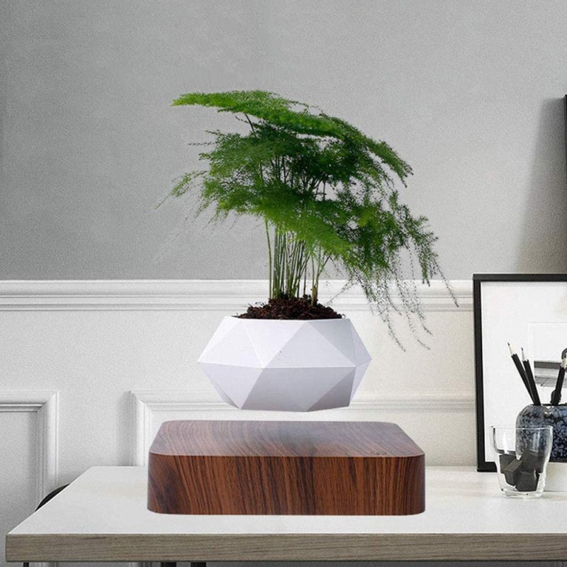 Magnetic Levitation Pot Potted Plant Levitating Air Bonsai for Seasonal Decoration of Home and Garden (Without Plants)