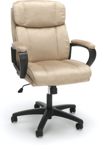 OFM Essentials Collection Plush Microfiber Office Chair, in Tan (ESS-3082-TAN)-Comfortable Desk Chair