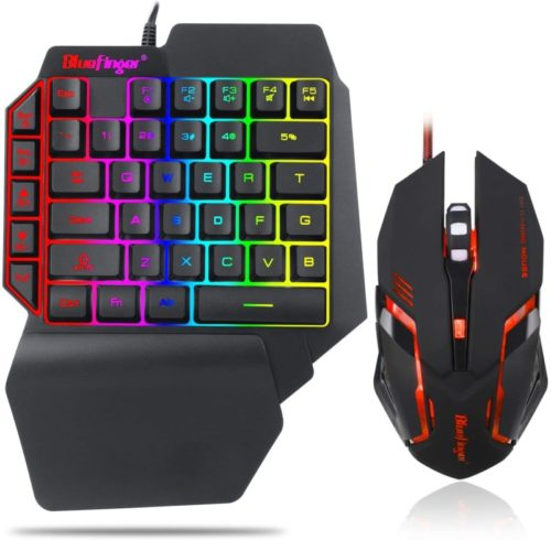 One-Hand-RGB-Gaming-Keyboard-and-Backlit-Mouse-ComboUSB-Wired-Rainbow-Letters-Glow-Single-Hand-Mechanical-Feeling-Keyboard-with-Wrist-Rest-Support-Gaming-Keyboard-Set-for-Game