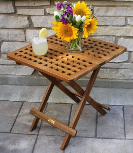 foldable outdoor coffee table