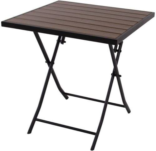 Square Patio Wood-Like Bistro Table