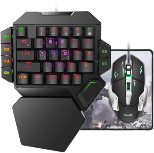 RGB-One-Handed-Mechanical-Gaming-Keyboard-and-Mouse-ComboColorful-Backlit-Professional-Gaming-Keyboard-with-Wrist-Rest-SupportUSB-Wired-Single-Hand-Mechanical-Keyboard-and-Mouse-for-Game