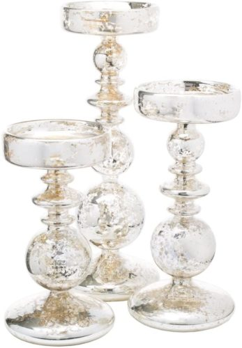 Richland-Pillar-Candle-Holders-Unique-Mercury-Bubble-Set-of-3