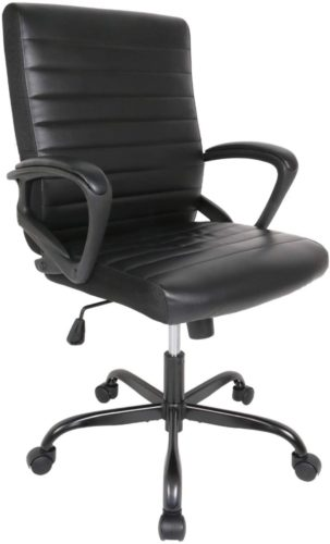 Smugoffice Office Comfortable Desk Chair, Black