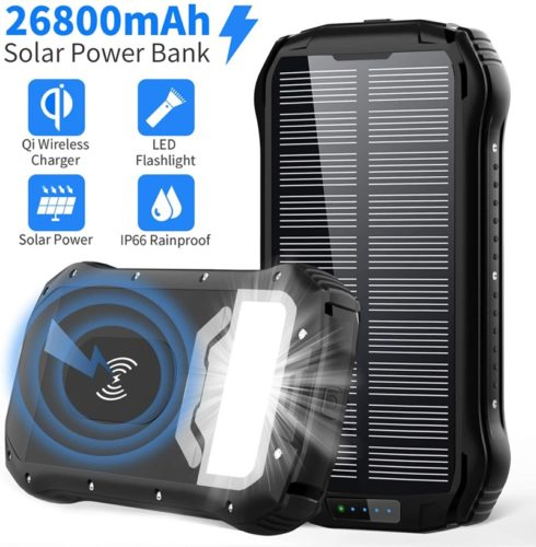 Waterproof External Backup Battery Pack with 18 LEDs Flashlight for Phones