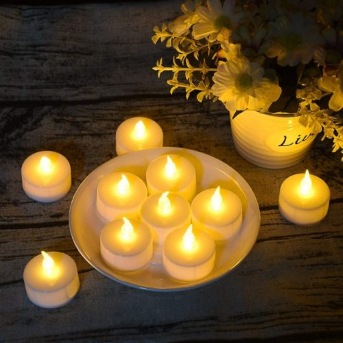Tea-Light-150-Pack-Flameless-LED-Tea-Lights-Candles-Flickering-Warm-Yellow-100-Hours-Battery-Powered-Tealight-Candle.-Ideal-for-Party-Wedding-Birthday-Gifts-and-Home-Decoration-150-Pack