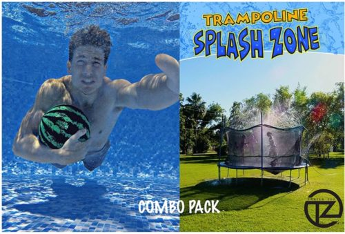 Thrill-Zoo-Trampoline-SplashZone-Watermelon-Ball-Combo-Pack-Kids-Fun-Summer-Outdoor-Water-Park-Game-Sprinkler-Waterpark-Toys-for-Boys-Girls-and-Adults-Accessories-Included