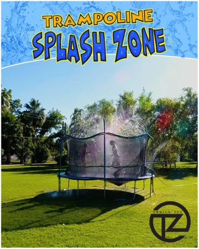 ThrillZoo-Trampoline-SplashZone-Kids-Fun-Summer-Outdoor-Water-Park-Game-Sprinkler-Waterpark-Toys-for-Boys-Girls-and-Adults-Accessories-Included-Toy-Attaches-on-Safety-Net-Enclosure