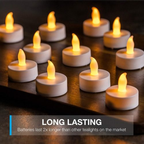 Vont-LED-Candles-Lasts-2X-Longer-Realistic-Tea-Lights-Candles-LED-Tealight-Candles-Flickering-Bright-Tealights-Battery-Operated-Powered-Flameless-Candles-Unscented-Batteries-Included-24