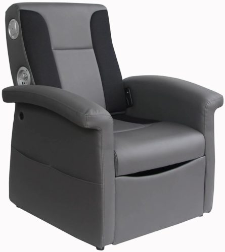 X Rocker Triple Flip 2.1 Sound Recliner with Storage Compartment - Gray, 0717901