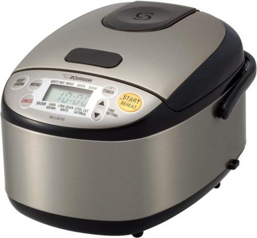 Zojirushi NS-LGC05XB Micom Rice Cooker & Warmer, Stainless Black