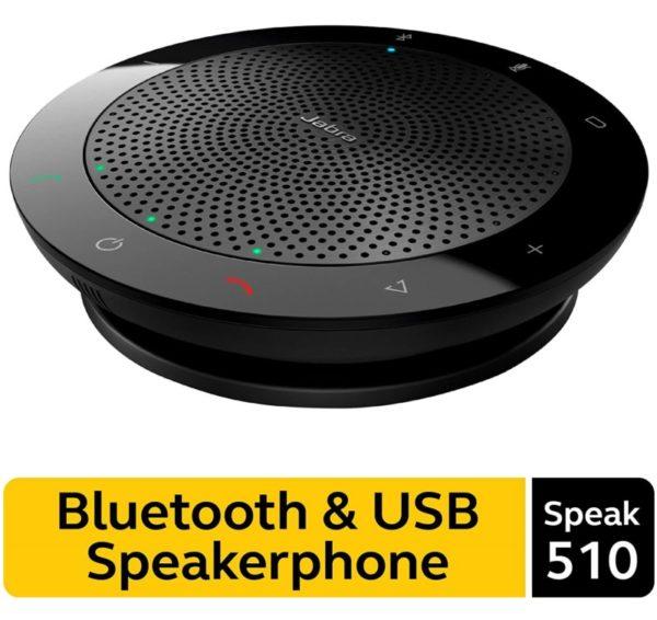 1. Jabra Speak 510 Wireless Bluetooth Speaker for Softphone and Mobile Phone