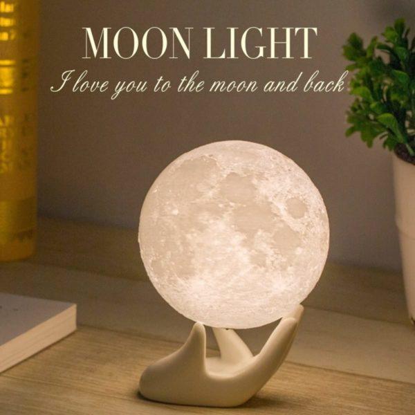 1. Mydethun Moon Lamp Moon Light Night Light