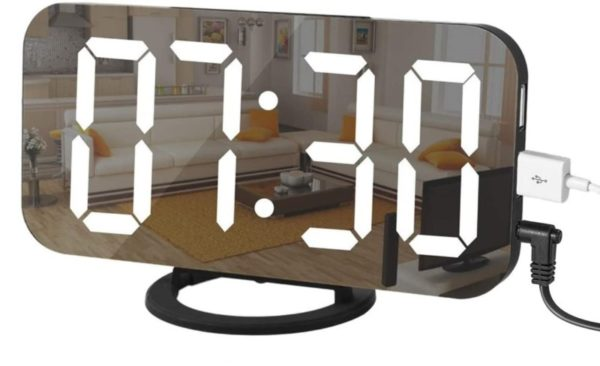 10. LED Digital Alarm Clock with Large 6.5 Easy-Read Display