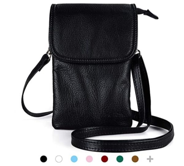 10. befen Genuine Leather Small Cell Phone Crossbody Wallet Purse Bags for Women with Key Ring
