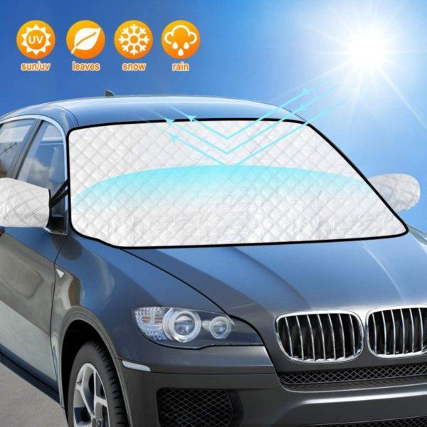 11. AURELIO TECH Car Windshield Sun Shade Cover, Block UV Rays,