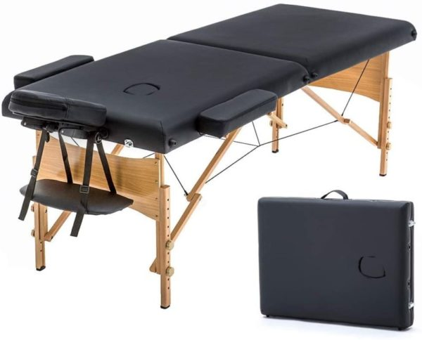12. New Black 73in Portable Massage Table