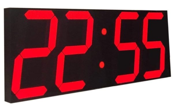 13. Goetland Jumbo Wall Clock LED Digital Multi Functional Remote Control Countdown Timer Temperaturer