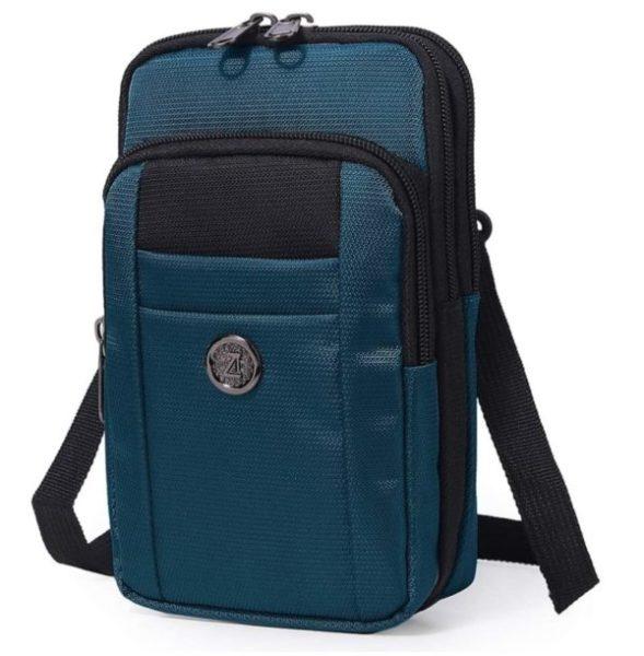 13. Sentient Wolf Water-Resistant Oxford Fabric Multifunction Phone Bag One Shoulder Phone Waist Bag