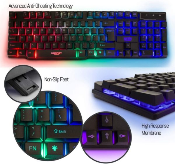 4. Gaming Keyboard and Mouse and Mouse pad and Gaming Headset