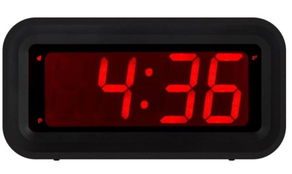 4. KWANWA LED Digital Alarm Clock Battery Operated Only Small for Bedroom
