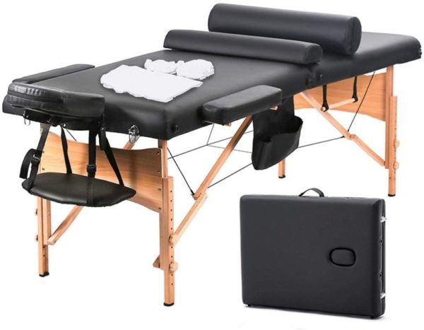 4. Massage Table Massage Bed Spa Bed 73 Inch Heigh Adjustable 2 Fold Portable Massage