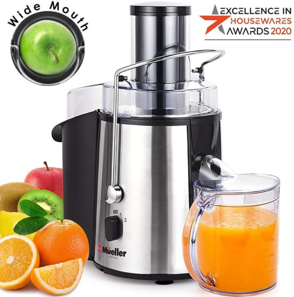 4. Mueller Austria Juicer Ultra 1100W Power, Easy Clean Extractor Press Centrifugal Juicing Machine