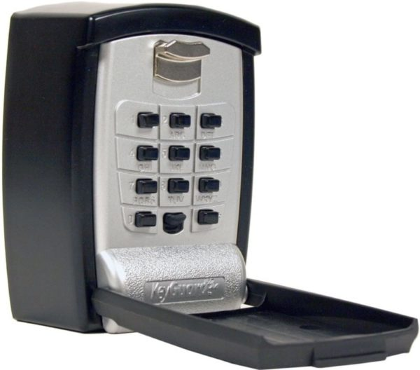 5. KeyGuard SL-590 Punch Button Key Storage Wall Mount Lock Box, Black Finish
