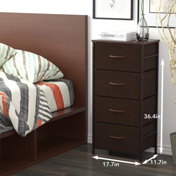 5. ROMOON Dresser Organizer with 4 Drawers, Fabric Dresser Tower for Bedroom