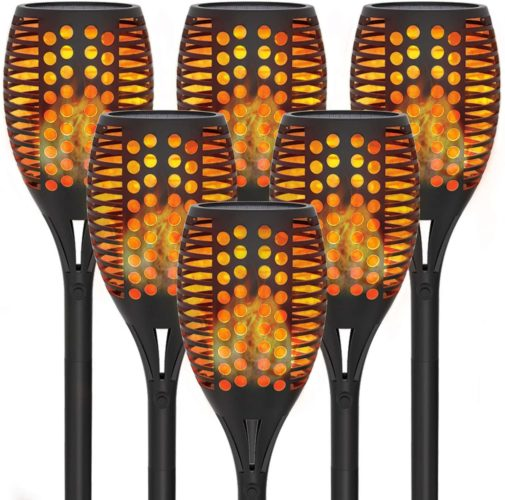 6-Pack Solar Torch Lights