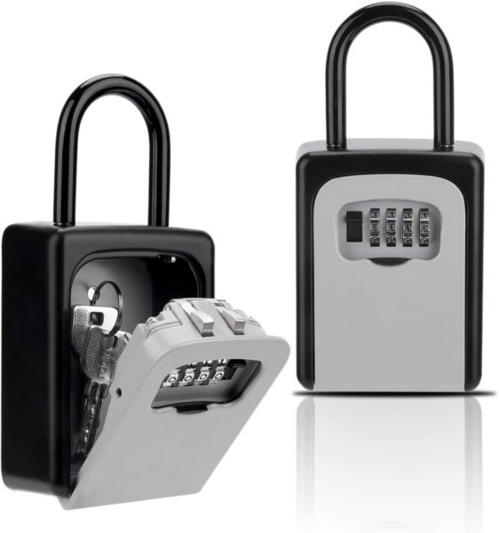 6. Key Lock Box, Combination Lockbox with Code for House Key Storage, Combo Door Locker