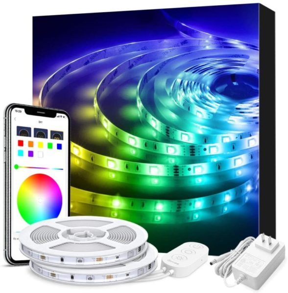 6. LED Strip Lights Phone Control, Govee 32.8ft Waterproof Wireless Led Light Strip Kit