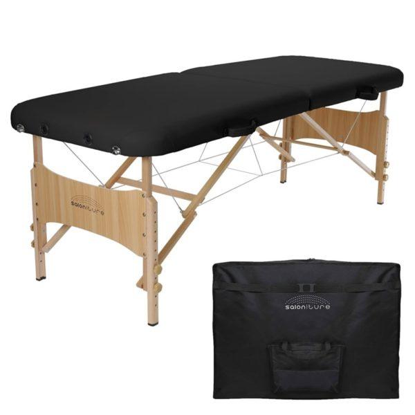 6. Saloniture Basic Portable Folding Massage Table - Black