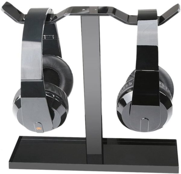 7. Headphone Stand, MOCREO Acrylic Dual Balance Headset Stand Gaming Headphone