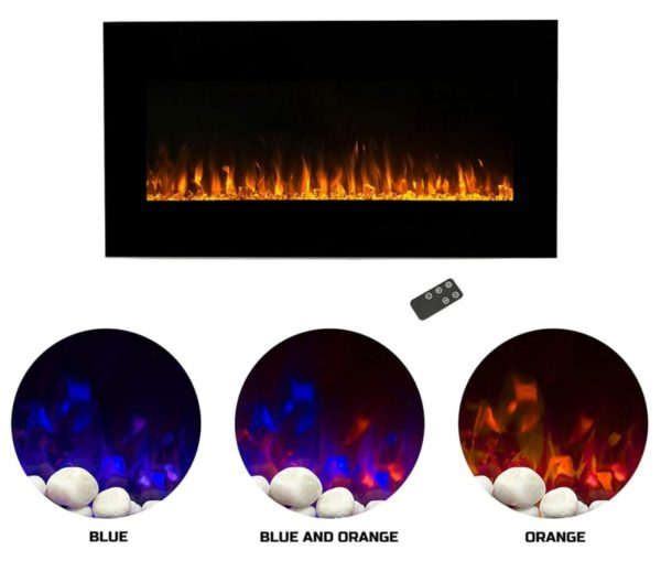8. Northwest Electric Fireplace Wall Mounted LED Fire and Ice Flame