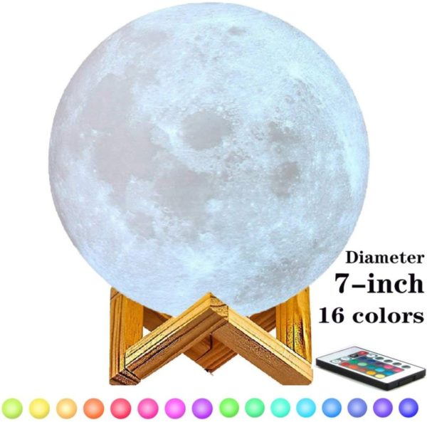 8. 7 inch Moon Lamp,6inch,8inch,9inch,10inch and11inch Diameter Moon Light Lamps are Available