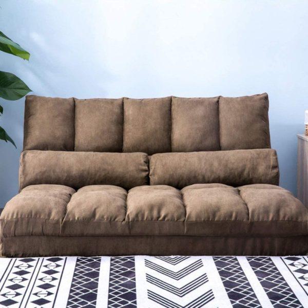 8. DANGRUUT Thicken Floor Double Chaise, Folding Lounge