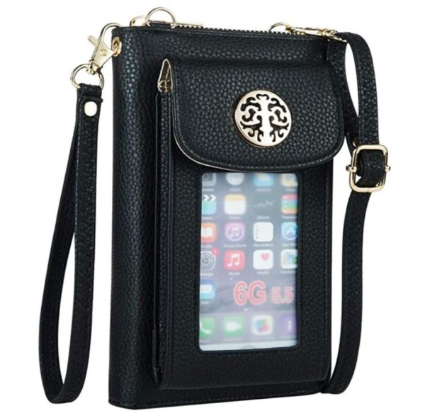 8. Heaye Crossbody Cell Phone Purse for Women Wristlet Wallet with Phone Holder Handbag RFID