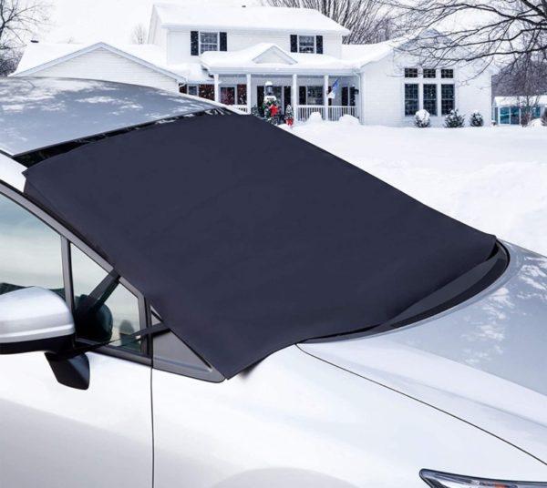 8. OxGord Windshield Snow Cover Ice Removal Wiper Visor Protector