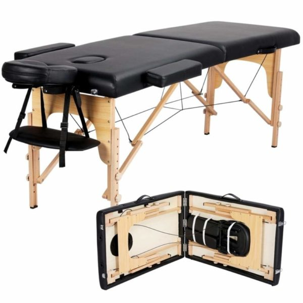 8. Yaheetech Massage Table Portable Massage Bed Massage Therapy Table Spa Bed